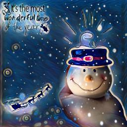 freetoedit snowman snow midnightmagic christmas
