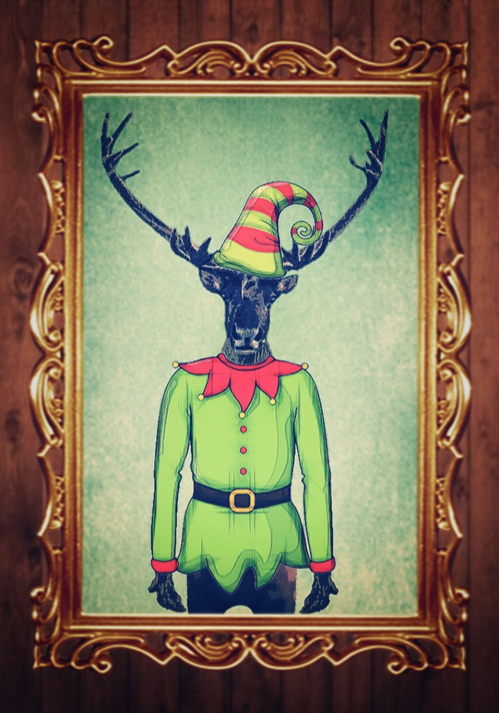 #FreeToEdit #deer #elf #portrait #christmas #holidays  #vectorart #mashup #effects