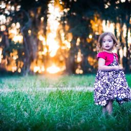 photobyme sunset toddler fashion grassfield freetoedit
