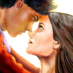 love life sunny bright drawings mydrawing digitalpainting digitaldrawing couple coupleinlove people relations FreeToEdit wdploveportrait cute sketch