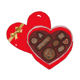 mydrawing chocolates heart sweet red