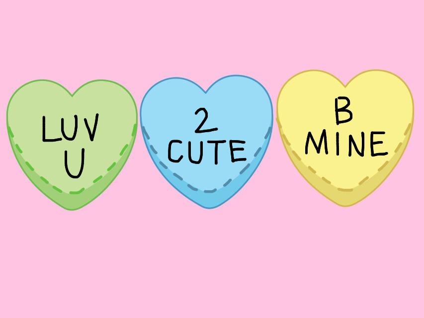 Instagram: varshannaik | #FreeToEdit #remix #edit #green #blue #yellow #hearts #conversationhearts #pink #background #dottedline #black #font #draw #graphic #interesting @pa @freetoedit#candyheartsremix