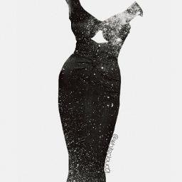 FreeToEdit dress glitter glittered diamond blackandwhite myedit editedwithpicsart beautiful shine girl creativity myart