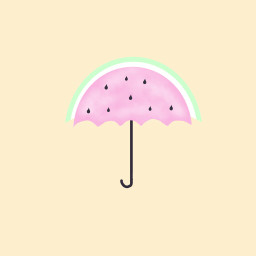watermelon umbrellas pastelcolors mydrawing freetoedit