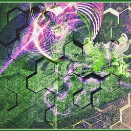 freetoedit neon shaman pattern fractal