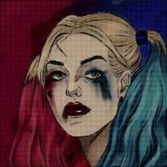 freetoedit popart comic harleyquinn suicidesquad