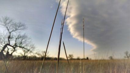 kansas landscape horizon sunset clouds