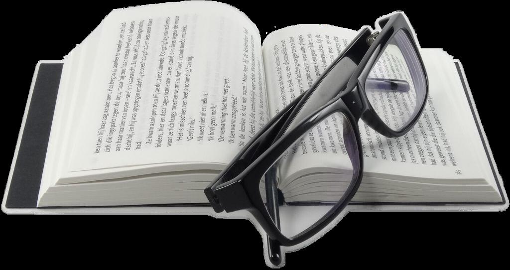 #FreeToEdit #ftestickers #book #glasses