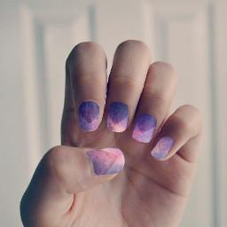 neonnails freetoedit galaxy nails