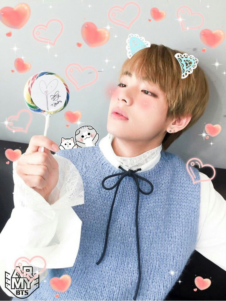 Taehyung Bts Kawaii Cute Mochi