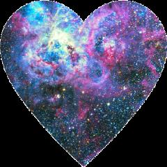 космос сердечко сердце freetoedit
