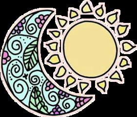 stickers moon sun freetoedit