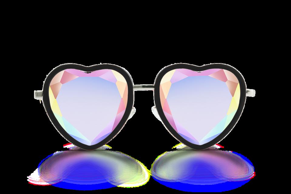 #sunglass #kaleidoscope #heart #girls #style